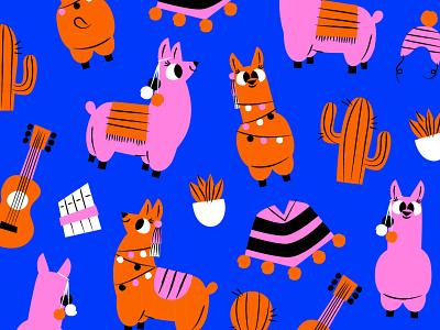 Alpaca vector design ai illustration peru animal alpaca