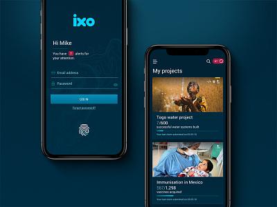 ixo mobile app mobile app ixo social impact dapp blockchain ux ui