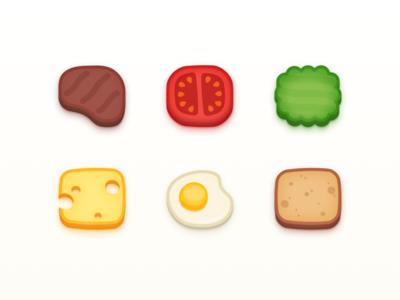 Virtual Pet Food Icons