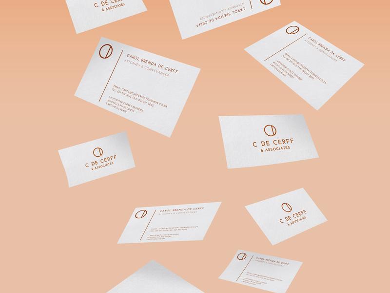Carol de Cerff & Associates business card branding logo