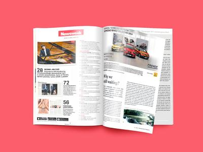 Renault advert in Newsweek