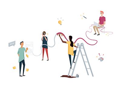 Sprint lyf team collaboration sprint design sprint agency website illustration