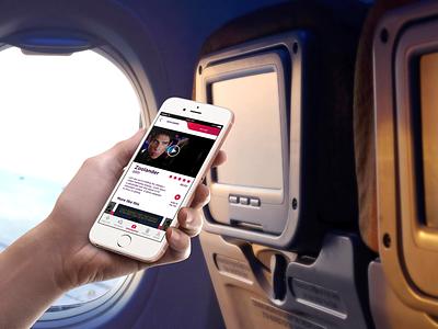 Virgin Atlantic mobile design ui ux