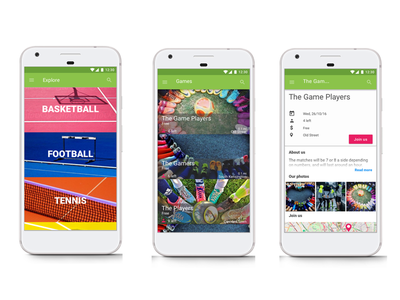 Sportlize mobile design ui ux