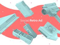 Social Retro Ad