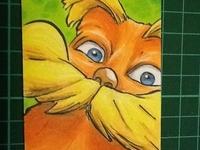 Lorax Sketch Card