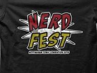 Official Nerd Fest Comic Con t-shirts
