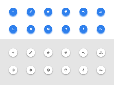 Alternative Material Icon colors blue light google material icon