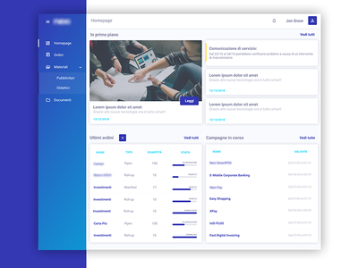 MRM Dashboard homepage dashboard marketing resource managment mrm blu design ui figma