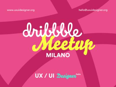 Dribbble Meetup - Ottobre 2019