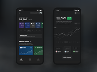 Investment app interface
