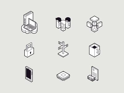 Icon Set icons icon set isometric isometric icons telecommunication ip phones technology