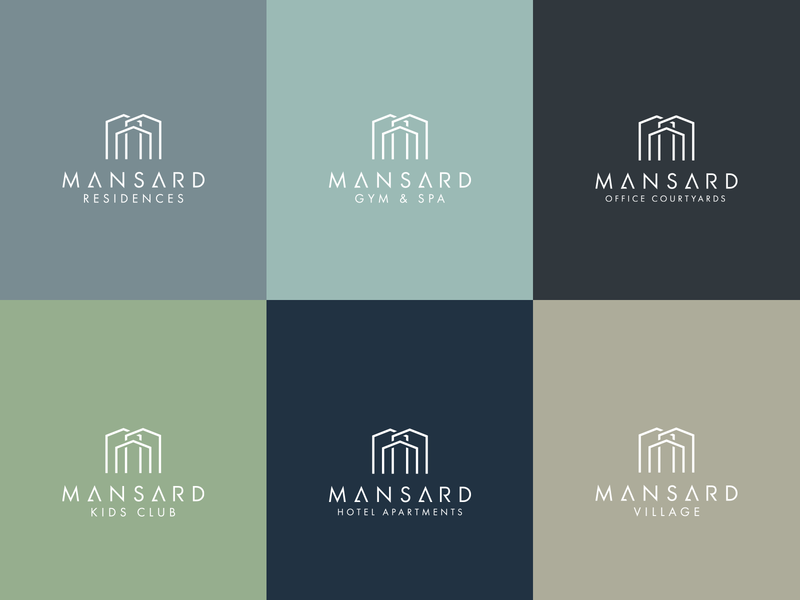 Mansard Logos and Brand Identity vector typography design brand identity brand design brand logodesign branding logo