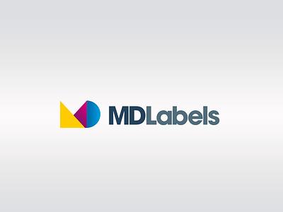 MD Labels logo typography design brand brand identity brand design logodesign branding logo