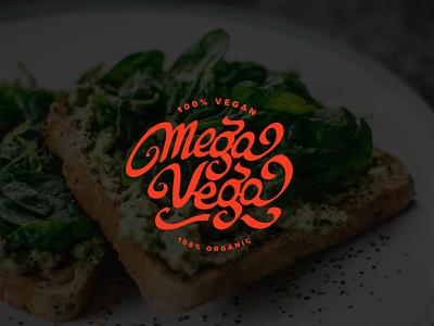 MegaVega vegan food - WiP vegan food vegan brand brand identity brand design logodesign branding logo