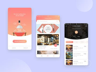 Restaurant reservation Application ui restaurant reservation logo design flat business app