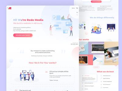 Development agency Landing Page desktop web business design flat ui minimal landing page agency development