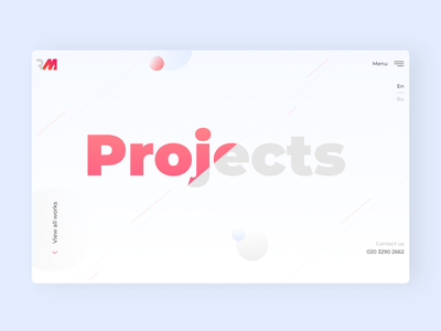 Portfolio page Develop Agency desktop business ui agency web minimal flat design