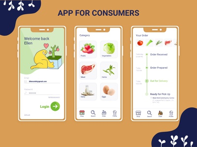 GROW App mobile interaction design ethical smart city ux  ui
