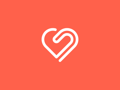 Single Line Heart Logo