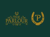 The Parlour Meeting Room Logo fancy victorian gold green horseshoe horse logotype symbol identity logomark illustration branding type mark icon logo