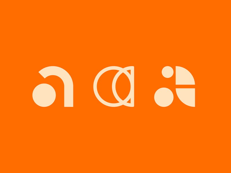 Letter A Logo Exploration alphabet orange 36daysoftype lowercase letter logotype logomark identity symbol line art branding type negative space mark icon logo
