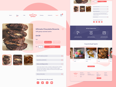E-commerce Product Page - Bakery bakery cake pink cart basket listing eshop product page website uiux logo typography ecommerce design ecommerce web webdesign type branding ux ui