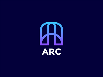 ARC - Letter A Logo identity design electric purple blue 36dayoftype alphabet letter a a identity sticker logotype logomark line art vector type branding mark icon logo