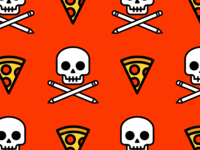 Draw or Die. Pizza Powered Pattern