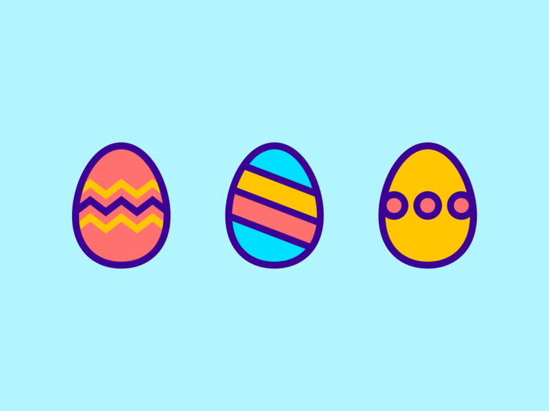 Happy Easter! holiday spring blue bold line branding identity flat bunny egg easter egg easter vector sticker illustration logomark line art mark icon logo