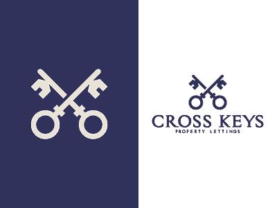 Cross Keys Property Lettings key property logomark identity line art branding type mark icon logo