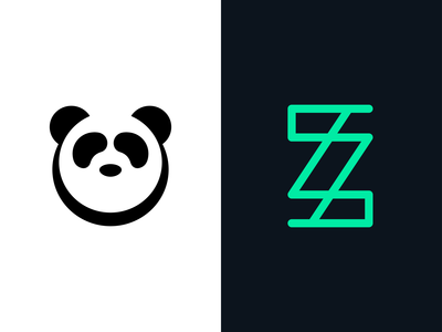 Daily Logo Challenge Day 3 & 4: Panda/Random Letter