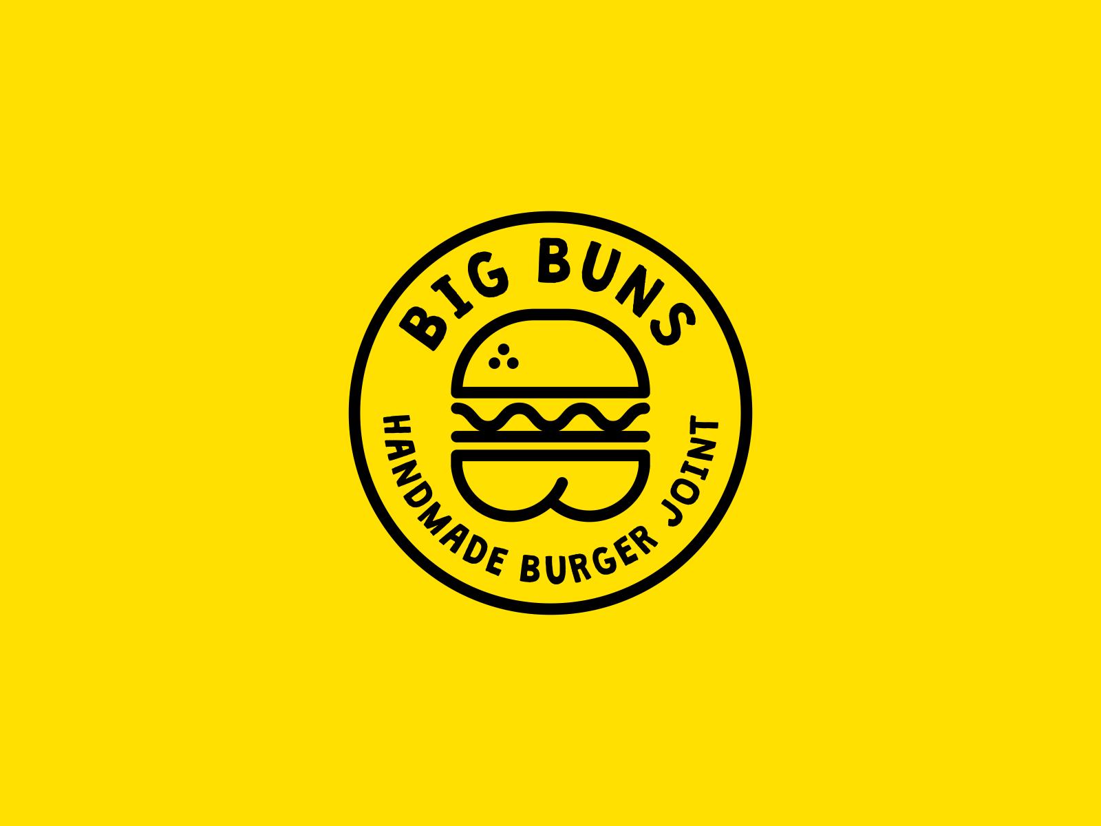 Dailylogochallenge bigbuns burger b logo dribbble nickbudrewiczdesign 01