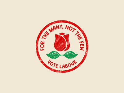 Labour Party Rose Badge