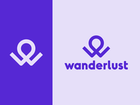Wanderlust Letter W Logo