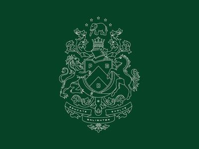 Heraldry Inspired Crest Design