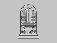 Pure Cycles Doorway Sticker - DTLA