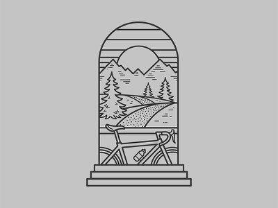 Pure Cycles Doorway Sticker - Gravel fixed gear bicycle bike badge sticker branding pure cycles pure fix line art illustrator vector logo