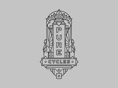 Pure Cycles Head Tube Badge