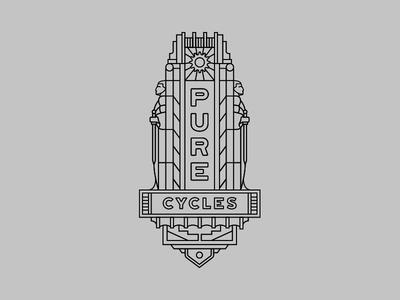 Pure Cycles Head Tube Badge Design