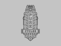 Pure Cycles Head Tube Badge Design