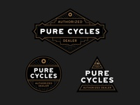 Pure Cycles - 'Authorized Dealer' Window Cling Stickers