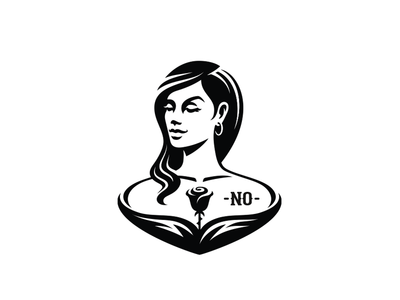 YES no mascot logo black hint smirk tattoo yes rose woman girl
