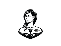 YES no mascot logo black hint smirk tattoo yes rose woman girl