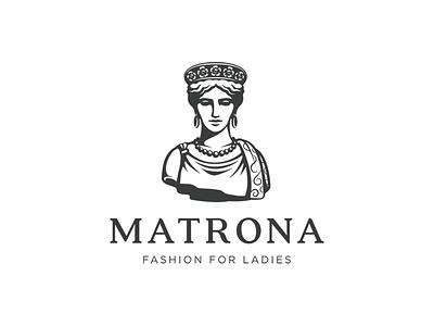 Matrona black sculpture ancient rome vip clothing woman