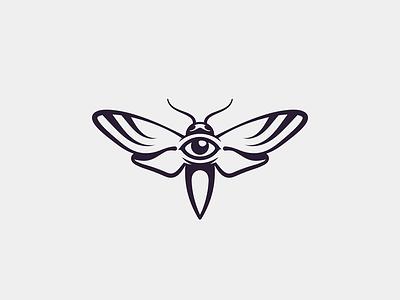 Hawk Moth shadow black personal logotype logo butterfly eye hawkmoth