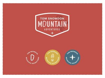 Tom Snowdon Mountain Adventures boot sheild button badge logo snowdon navigation carabiner visual identity adventures mountain