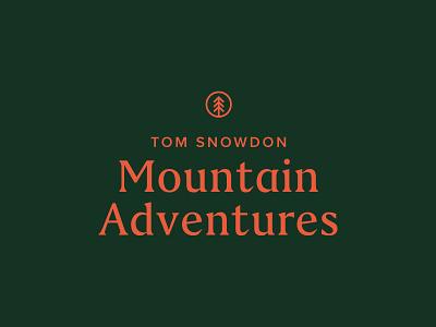 Tom Snowdon Mountain Adventures - concept 2 green pink tree logo badge tree snowdon mountain adventure
