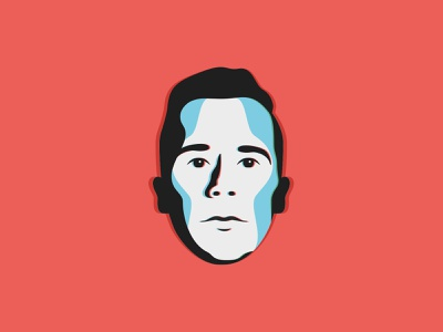 DSD FACE illustration icon typography vector badge branding designer profile 3d logo rgb split face
