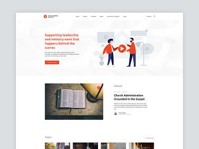 The Church Office brand and website design church design pattern orange icon logo identity brand website blog office church